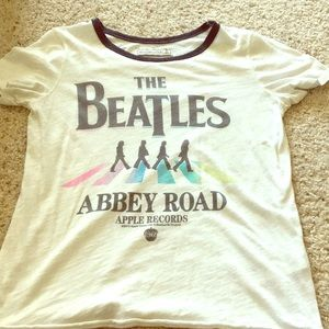 Beatles band tee with ringer neck